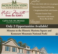 New Townhomes in Atlanta at Mountain View