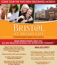 New Townhomes in Atlanta at Bristol at Briarcliff