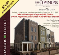 New Townhomes in Atlanta at The Commons at Historic Westside Village