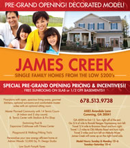 New Homes in Atlanta at James Creek