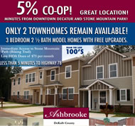 New Townhomes in Atlanta at Ashbrooke
