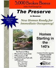New Homes in Atlanta at The Preserve