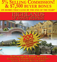 New Townhomes in Atlanta at Highlands of Sandy Springs