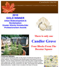 Candler Grove New Townhomes in Atlanta