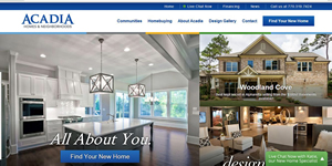 Acadia Homes Neighborhoods New Website - October 2014